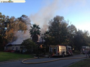 House fire in Gainesville FL (Blues Creek)