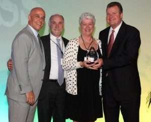 McGriff-Williams Health Insurance Advisor, Pat Canty, receiving her award as top health insurance agent in Florida.