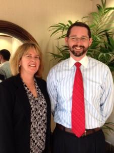 Accountant, Terry Sprague (left) & Financial insurance Advisor, Nick Deas (right)